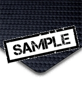 Carbon Fibre Effect Black Vinyl - Sample