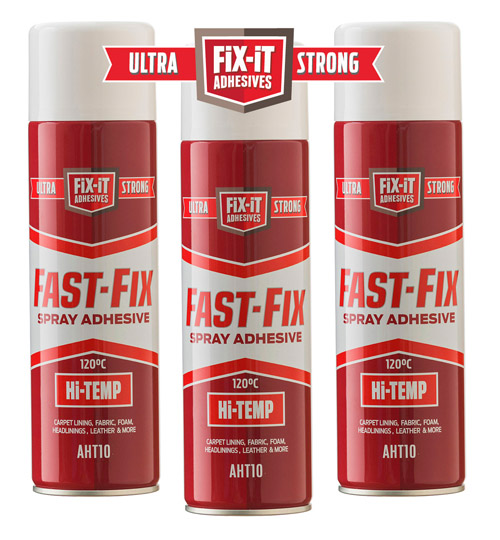 12 Cans of Fast Fix High Temperature Spray Adhesive x 500ml