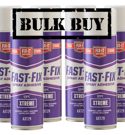 12 Cans of Fast Fix Xtreme Hi Temperature Spray Adhesive x 500ml