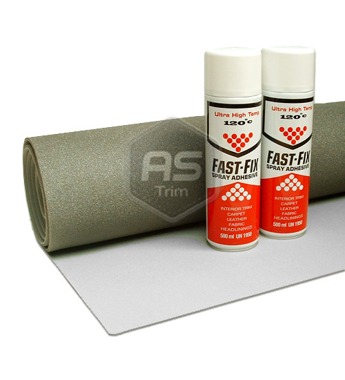 Light Grey Brushed Headlining 3m X 1 37m Adhesive Kit
