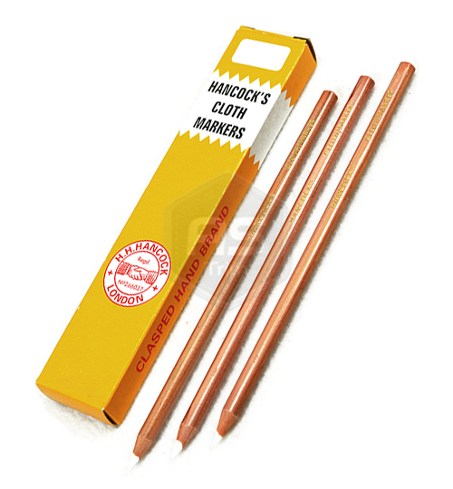 10 x White Hancocks Cloth Marking Pencils