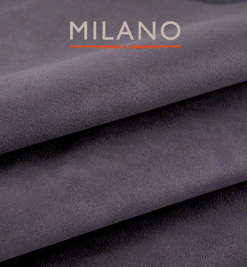 Milano Dark Grey 620 Suede Per M x 1.5m Wide