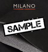 Milano Black 901 Foam Backed Suede - Sample