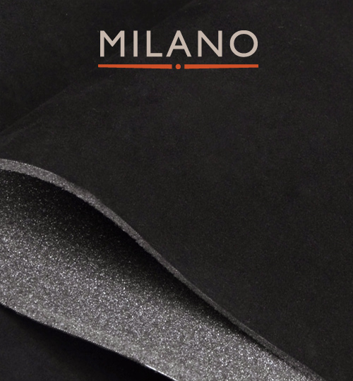 Milano Black 901 Foam Backed Suede Per M x 1.5m Wide