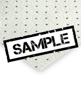 White Perforated PVC Headlining - Sample
