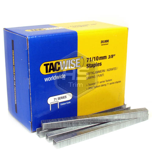 Tacwise 71 Series 10mm Staples 20,000 Box