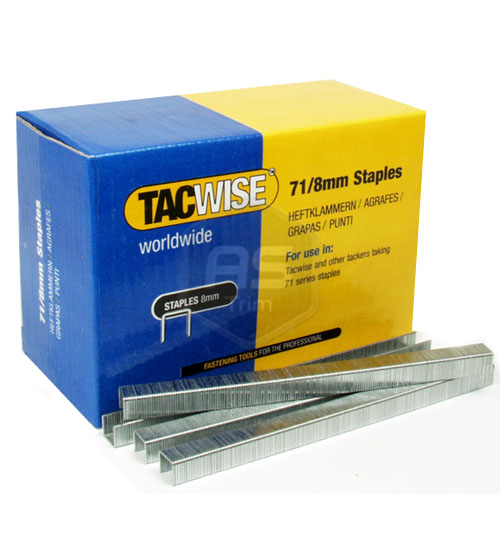 Tacwise 71 Series 8mm Staples 20,000 Box