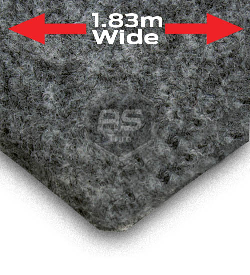 EW Trunkliner Grey Fleck Lining Carpet Per M x 1.83m