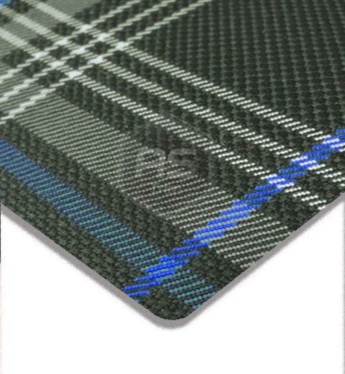 VW Golf GTE Tartan Blue Seating Fabric Per Metre x 1.5m Wide