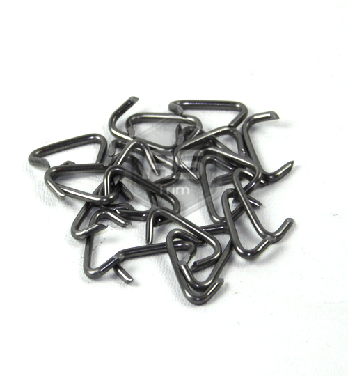 Polished Steel Hog Rings Pack of 100